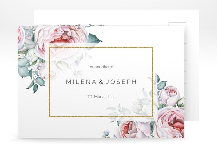 """Antwortkarte Hochzeit """"Embrace"""" A6 Postkarte"""