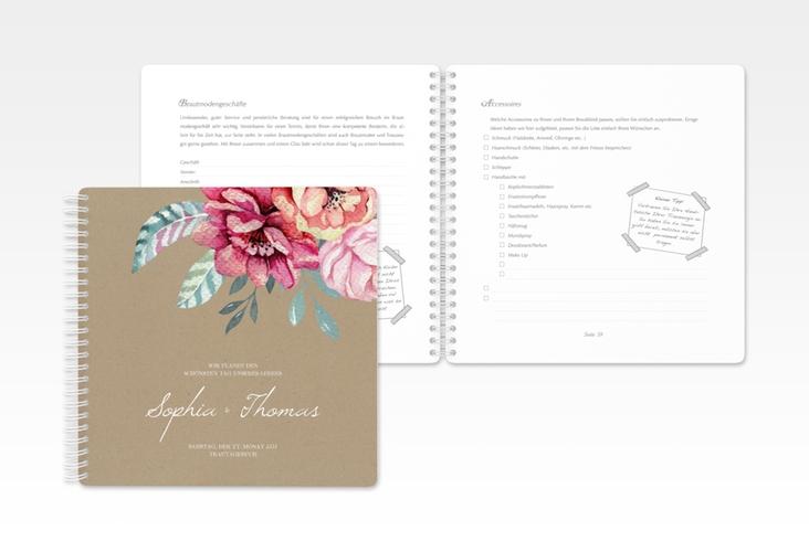 """Trautagebuch Hochzeit """"Blooming"""" Trautagebuch Hochzeit braun"""
