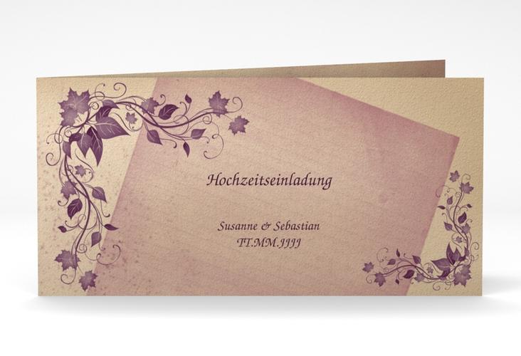 """Hochzeitseinladung """"Erfurt"""" DIN lang Klappkarte"""