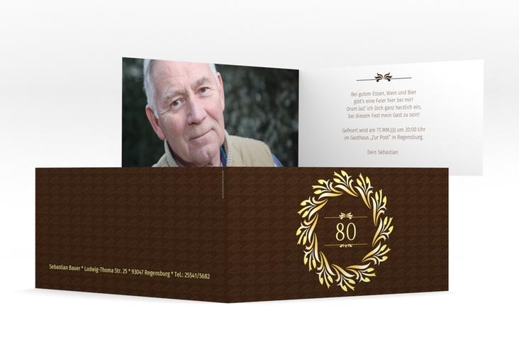 "Einladungskarte ""Manfred"" DIN lang Klappkarte"