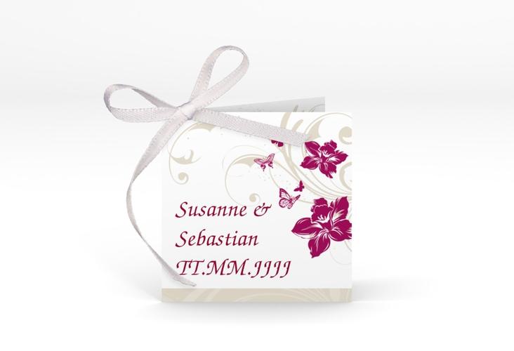 """Geschenkanhänger Hochzeit """"Parma"""" Geschenkanhänger 10er Set pink"""
