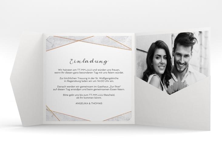 """Hochzeitseinladung """"Asymmetry"""" Pocketfold"""