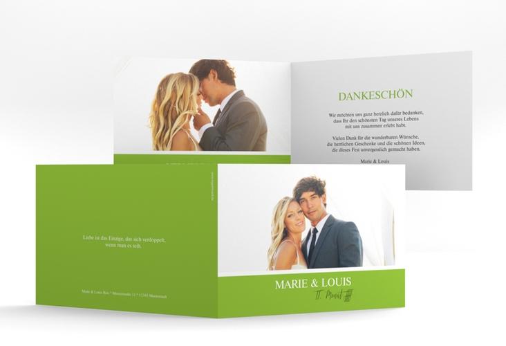 """Danksagungskarte Hochzeit """"Balance"""" A6 Klappkarte Quer"""