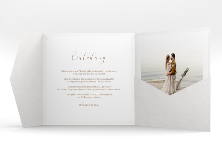 """Hochzeitseinladung """"Pampasgras"""" Pocketfold"""