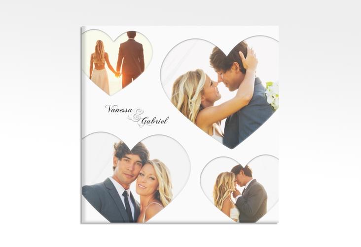 "Hochzeitscollage Leinwand ""Sweetheart"" 30 x 30 cm Leinwand weiss"