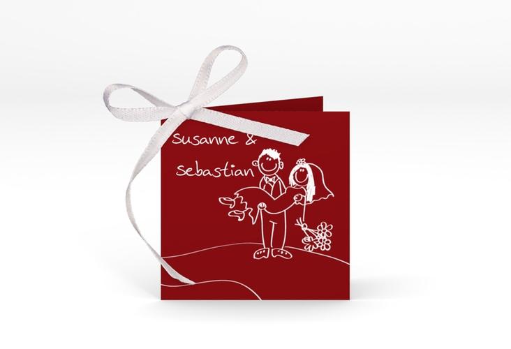 "Geschenkanhänger Hochzeit ""Pisa"" Geschenkanhänger 10er Set rot"