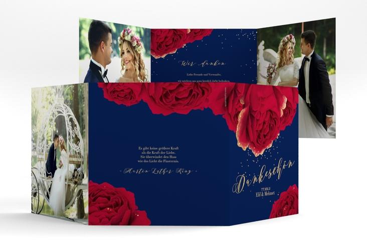"""Dankeskarte Hochzeit """"Cherie"""" Quadr. Karte doppelt"""