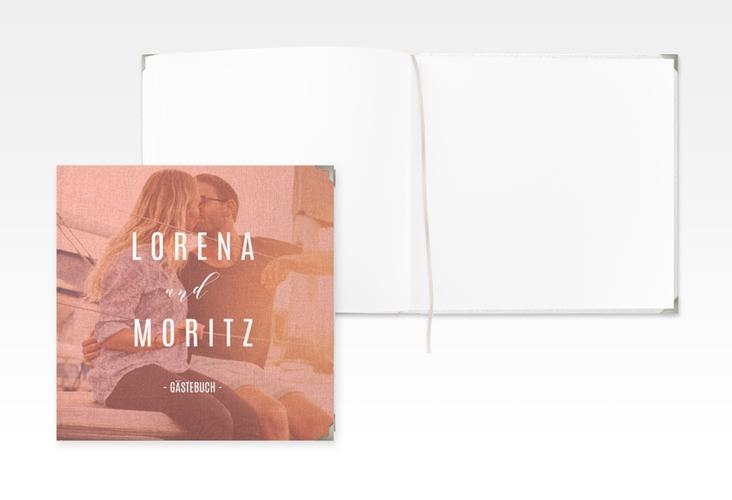 """Gästebuch Selection Hochzeit """"Memory"""" Leinen-Hardcover orange"""