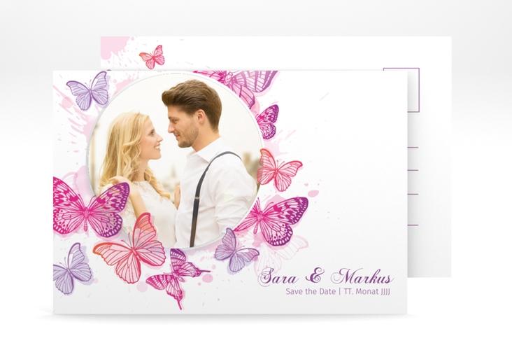"Save the Date-Postkarte ""Schmetterlinge"" A6 Postkarte"