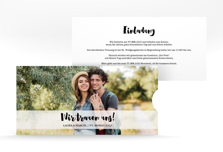 """Hochzeitseinladung """"Mirage"""" Einsteckkarte"""