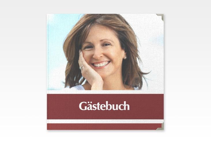 "Gästebuch Selection Geburtstag ""Gerd/Gerda"" Leinen-Hardcover rot"