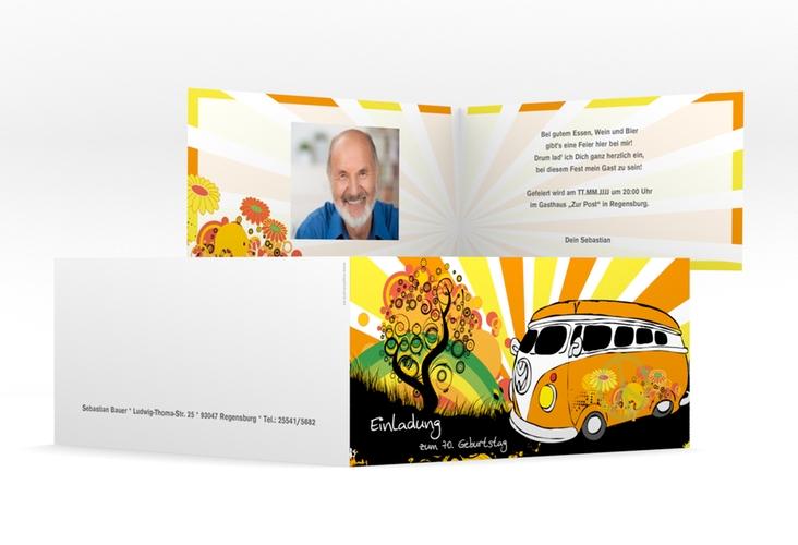 "Einladungskarte ""Heiko/Heike"" DIN lang Klappkarte"