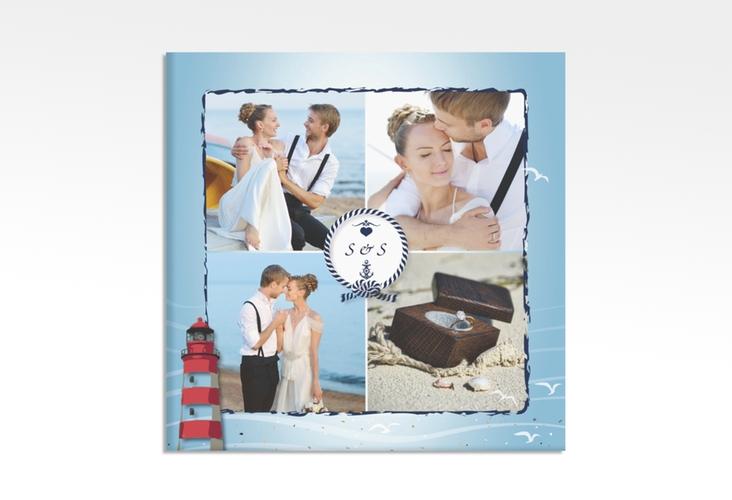 """Hochzeitscollage Leinwand """"Sylt"""" 30 x 30 cm Leinwand blau"""