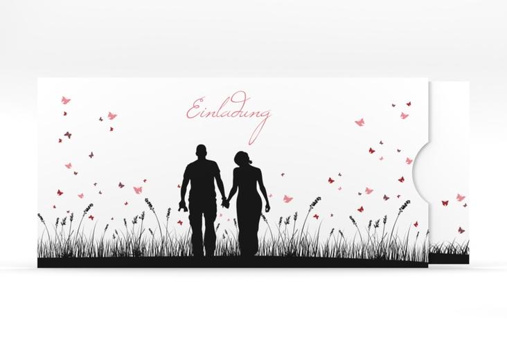 """Einladung Hochzeit """"Rouen"""" Einsteckkarte schwarz"""