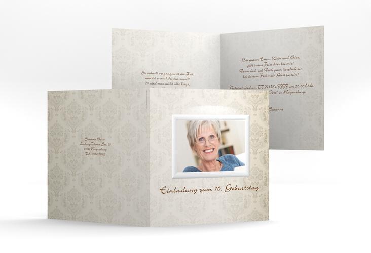"""Einladungskarte """"Elke"""" Quadratische Klappkarte"""