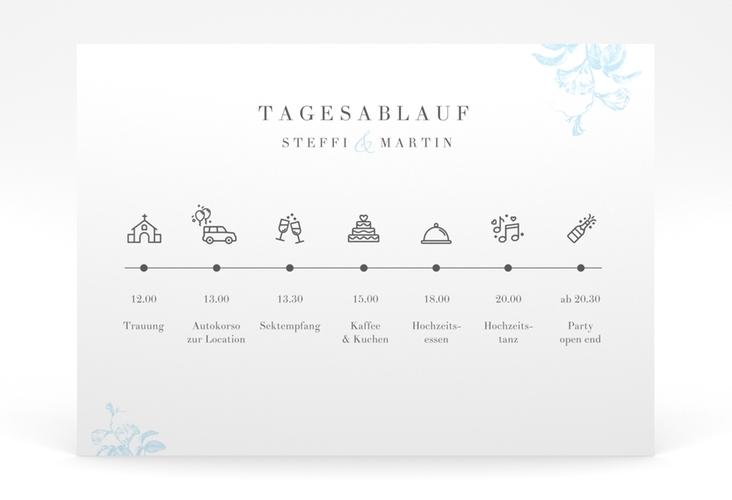 """Tagesablauf Poster Hochzeit """"Magnificent"""" 70 x 50 cm Poster tuerkis"""