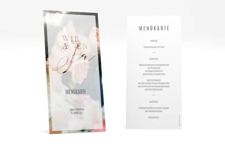 """Menükarte Hochzeit """"Amazing"""" DIN lang hoch"""