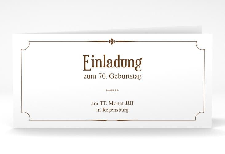 """Einladungskarte """"Helmut/Helmine"""" DIN lang Klappkarte braun"""
