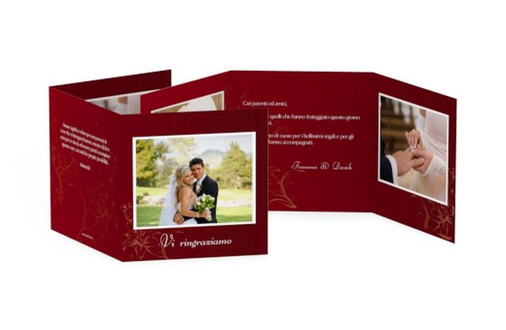 Ringraziamenti matrimonio collezione Lille Quadr. Karte doppelt rosso