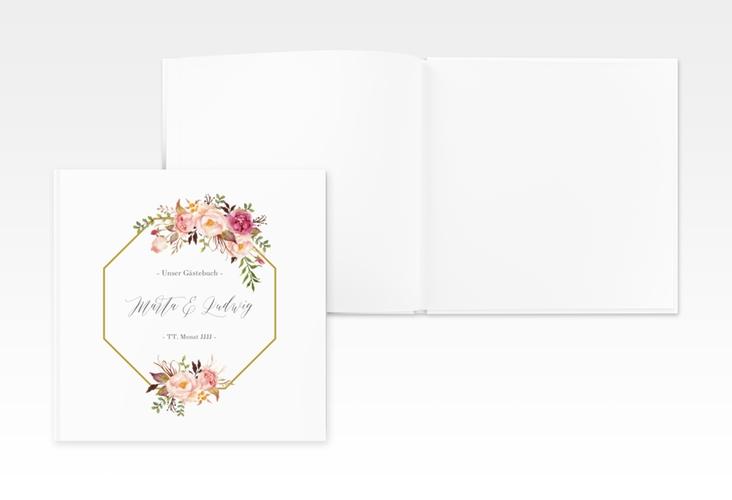 """Gästebuch Creation Hochzeit """"Prachtvoll"""" 20 x 20 cm, Hardcover weiss"""