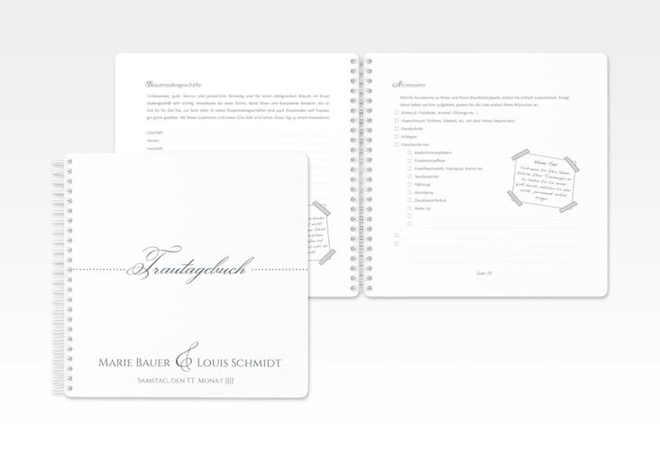 "Trautagebuch Hochzeit ""Pure"" Trautagebuch Hochzeit grau"
