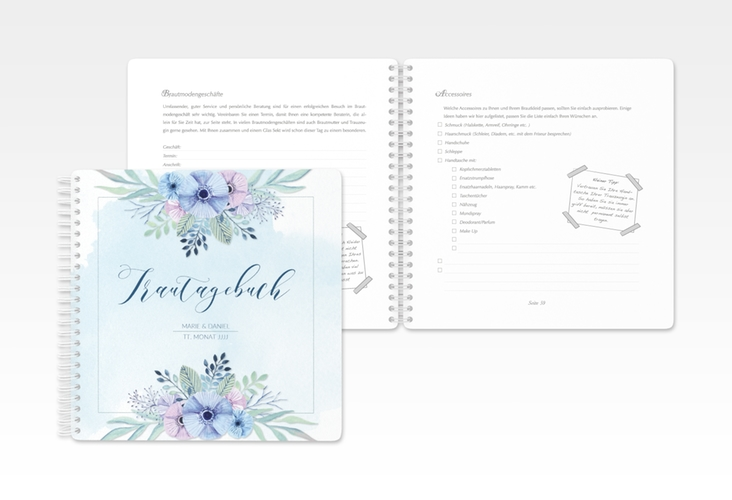 """Trautagebuch Hochzeit """"Surfinia"""" Trautagebuch Hochzeit"""