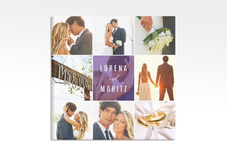 "Hochzeitscollage Leinwand ""Memory"" 30 x 30 cm Leinwand lila"