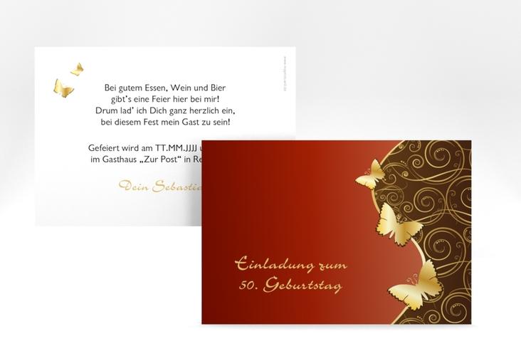 """Einladungskarte """"Sarah"""" A6 quer"""