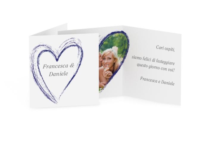 Biglietti Bomboniera matrimonio collezione Tolone Geschenkanhänger 10er Set blu