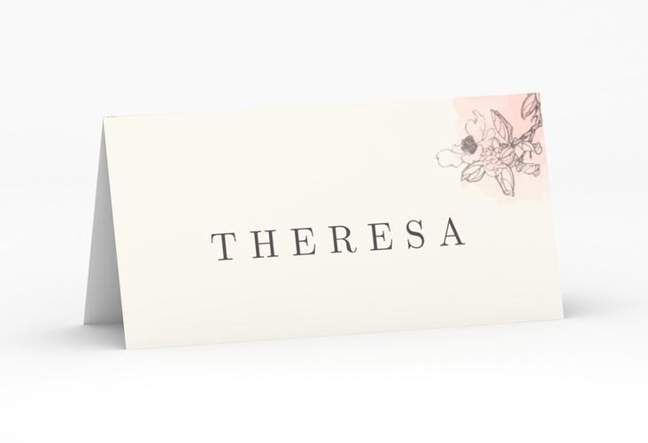 """Tischkarte Hochzeit """"Artlover"""" Tischkarten rosa"""