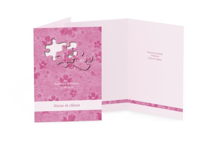 Libro messa matrimonio collezione Bergamo DIN A5 geklappt rosa