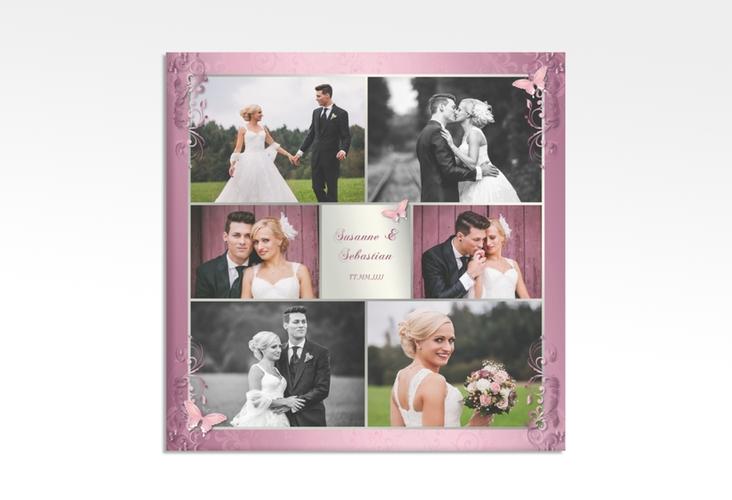 """Hochzeitscollage Leinwand """"Toulouse"""" 30 x 30 cm Leinwand rosa"""