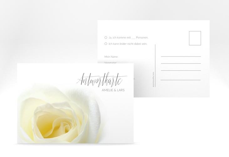 """Antwortkarte Hochzeit """"Rose"""" A6 Postkarte"""