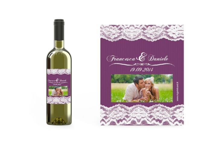 Etichette vino matrimonio collezione Montreux Etikett Weinflasche 4er Set