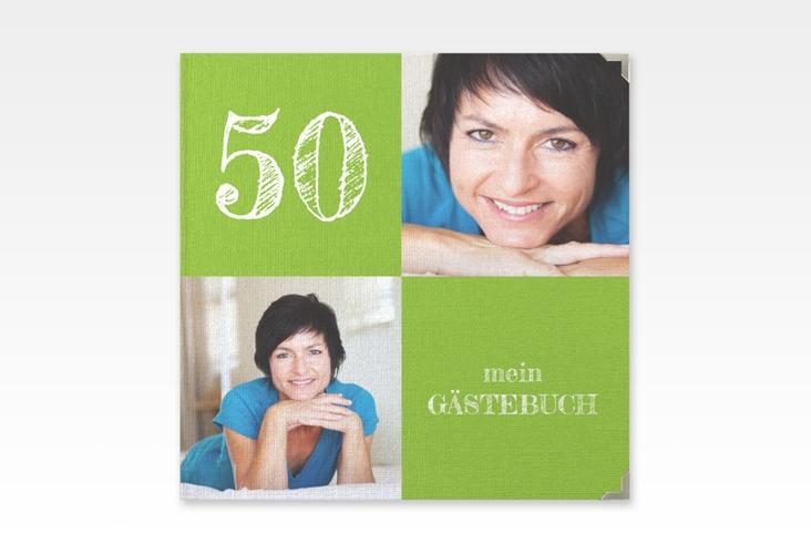 "Gästebuch Selection Geburtstag ""Lebensfreude"" Leinen-Hardcover gruen"
