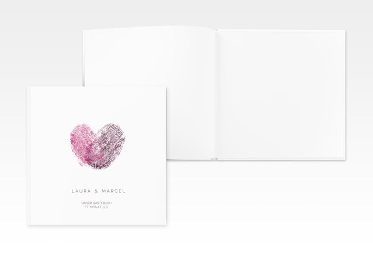 "Gästebuch Creation Hochzeit ""Fingerprint"" 20 x 20 cm, Hardcover"