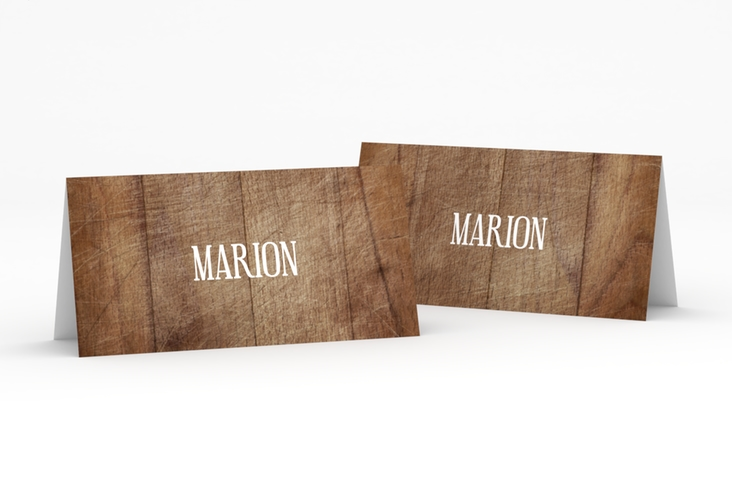 """Tischkarte Hochzeit """"Wood"""" Tischkarten"""