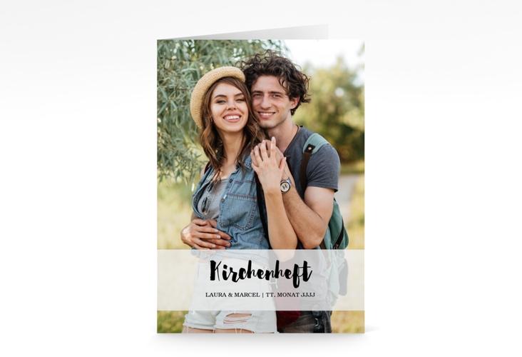 """Kirchenheft Hochzeit """"Mirage"""" DIN A5 geklappt"""