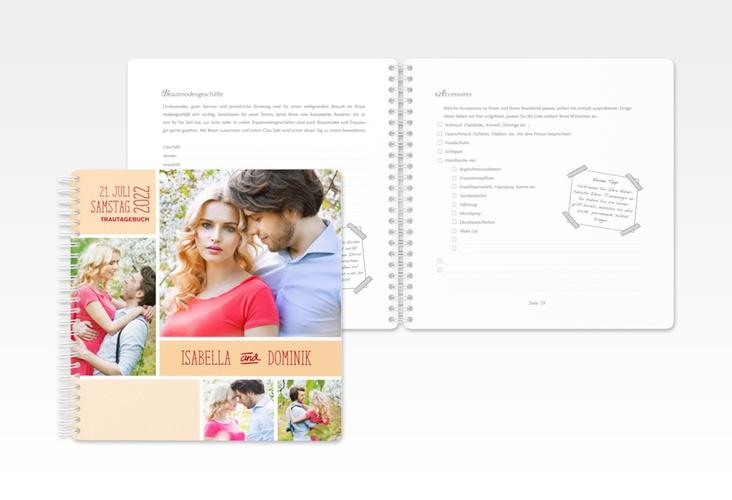 """Trautagebuch Hochzeit """"Gallery"""" Trautagebuch Hochzeit apricot"""