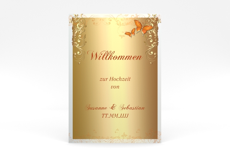 "Willkommensschild Poster ""Toulouse"" 50 x 70 cm Poster orange"