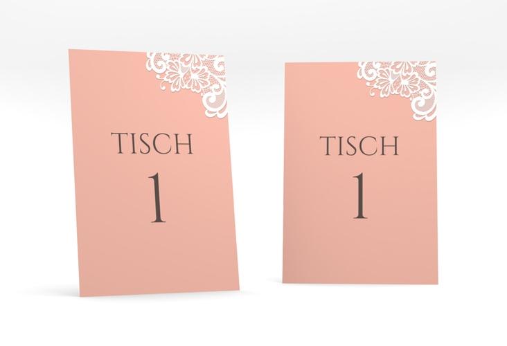 """Tischnummer Hochzeit """"Vintage"""" Tischaufsteller apricot"""