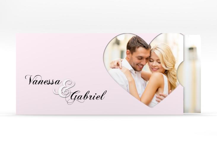 """Hochzeitseinladung """"Sweetheart"""" Einsteckkarte rosa"""