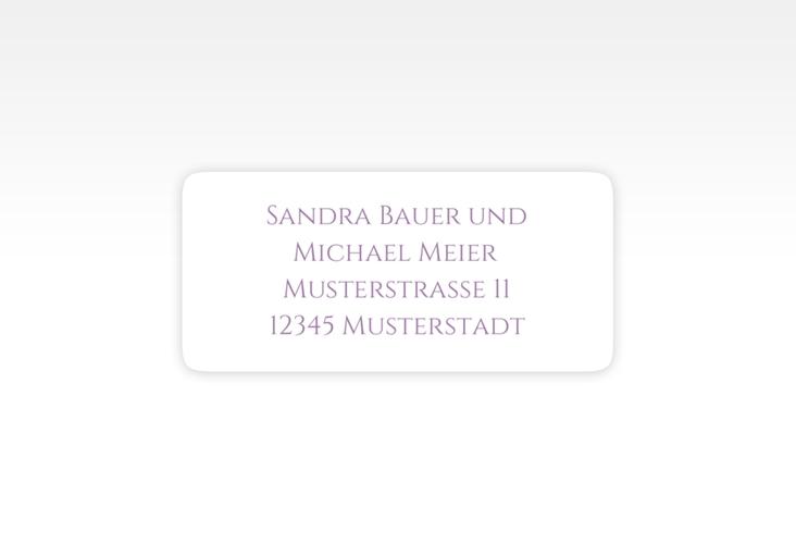 """Absenderetikett Hochzeit """"Delight"""" 45,7 x 21,2 mm flieder"""