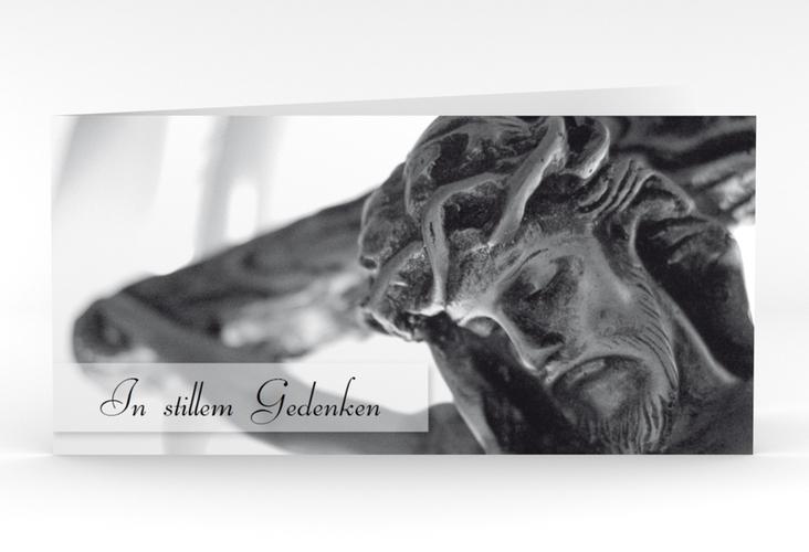 "Trauerkarte ""Kreuz"" DIN lang Klappkarte"