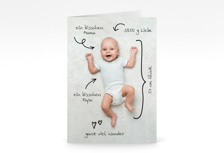 "Geburtskarte ""Unity"" A6 Klappkarte"