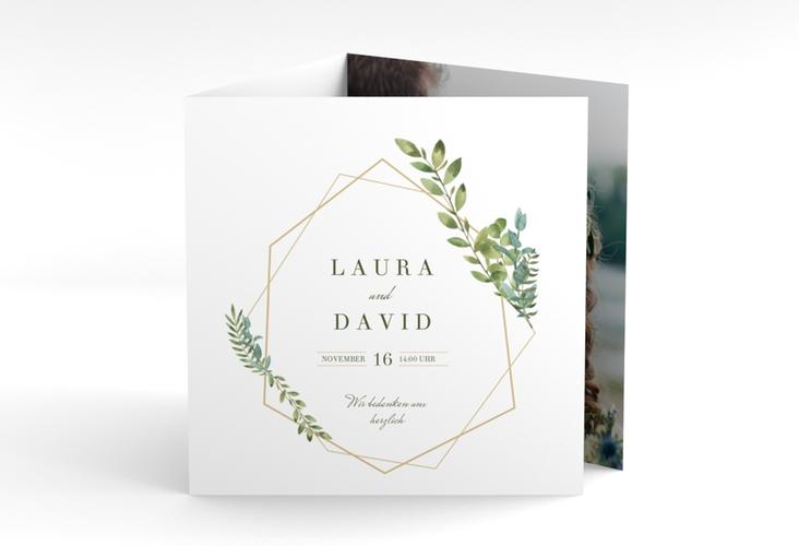 "Dankeskarte Hochzeit ""Herbarium"" Quadr. Karte doppelt"