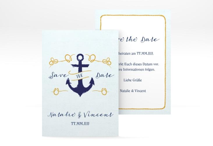 """Save the Date-Visitenkarte """"Anker"""" Visitenkarte"""