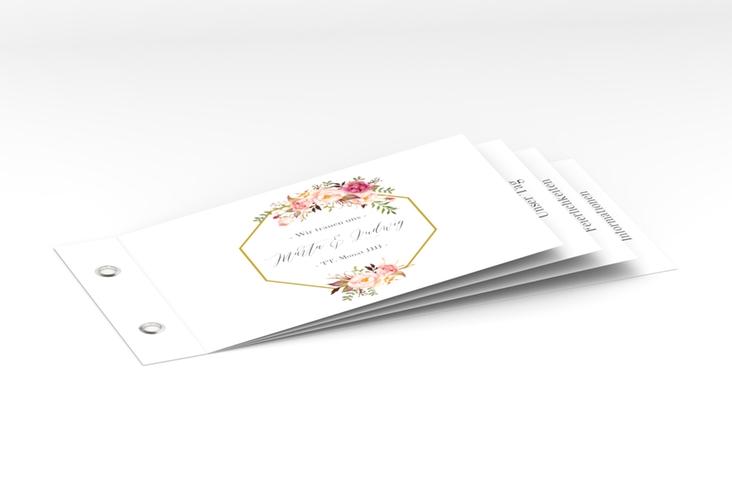 """Hochzeitseinladung """"Prachtvoll"""" Booklet weiss"""