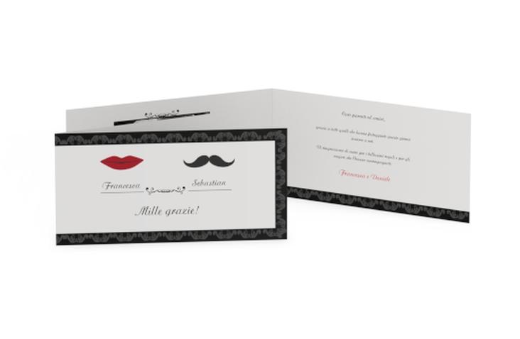 Ringraziamenti matrimonio collezione Arezzo DIN lang Klappkarte