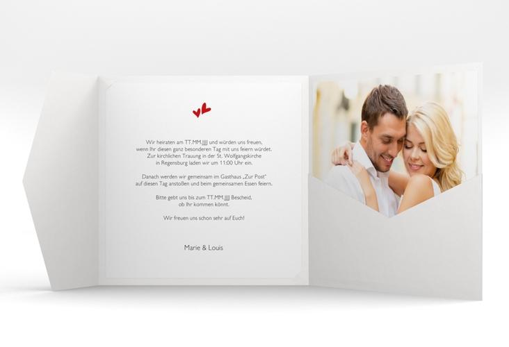 """Hochzeitseinladung """"Twohearts"""" Pocketfold"""